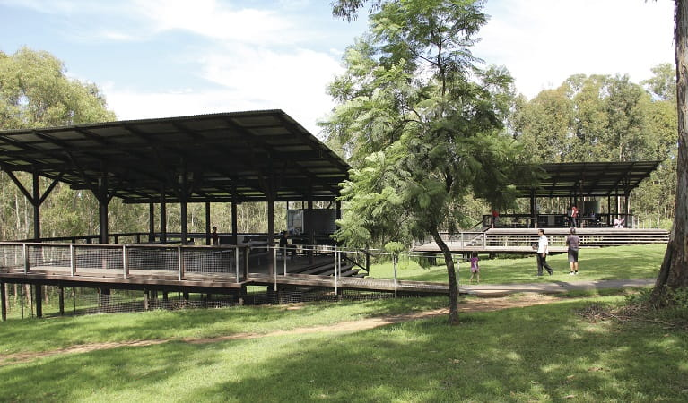 Pavilions in Rouse Hill Regional Park. Photo: John Yurasek/OEH
