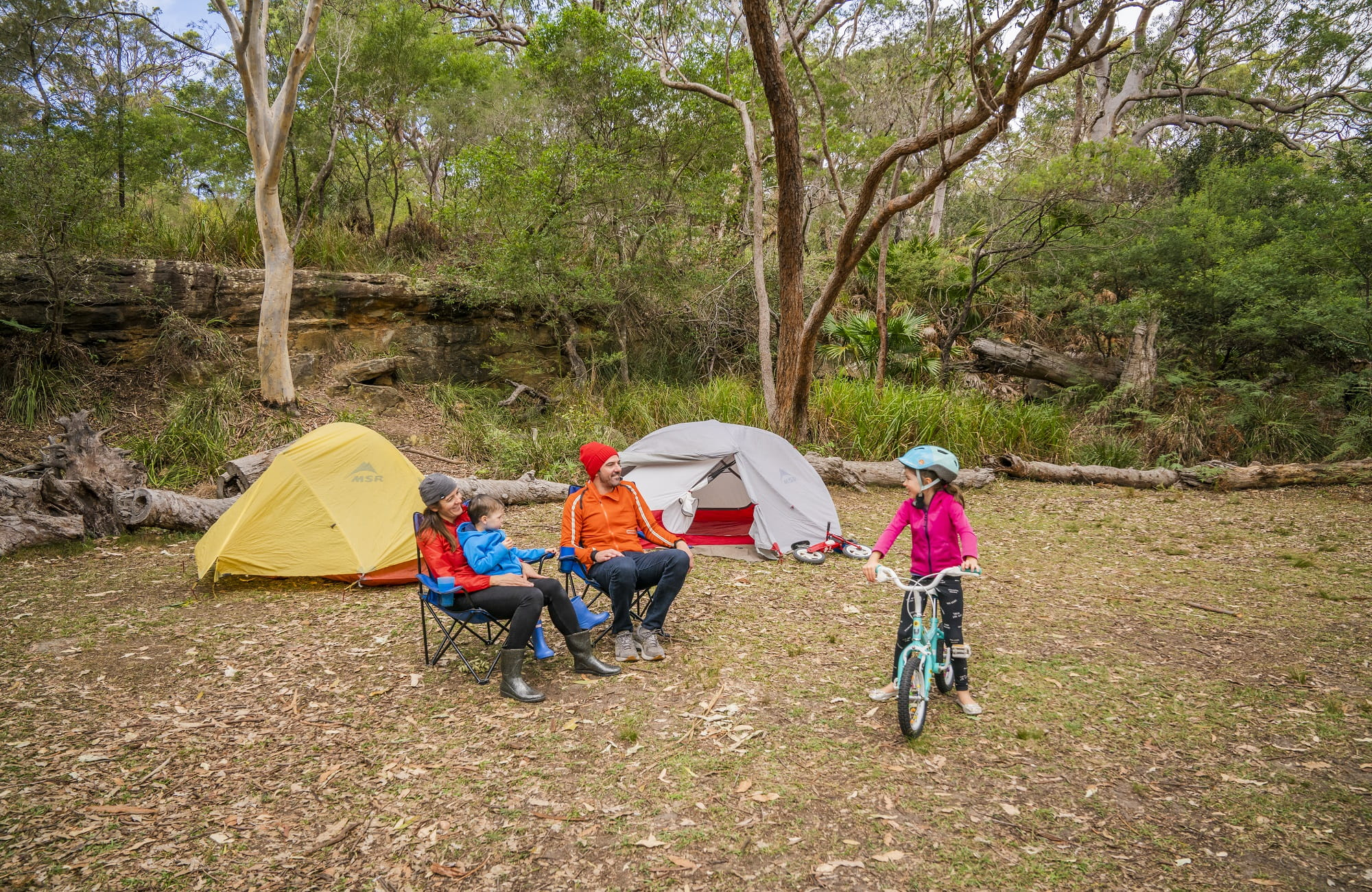 Bonnie Vale campground, Royal National Park. Photo: John Spencer/OEH