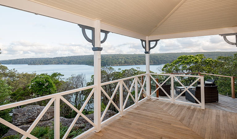 The view from the balcony at Hilltop Cottage, Royal National Park. Photo: John Spencer © DPIE