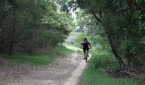 Bike riding on the Loftus Loop cycling trail. Photo: Andy Richards
