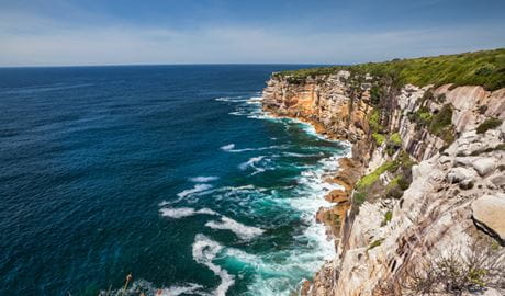 Stunning cliff tops views over the Pacific Ocean in Royal National Park. Photo: David Finnegan/OEH
