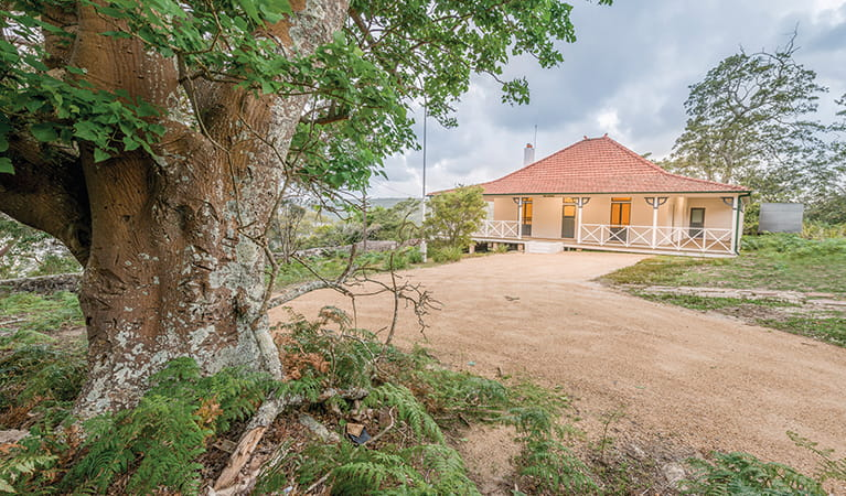 Hill Top cottage is positioned by the water overlooking Port Hacking in Royal National Park. Photo: John Spencer/OEH