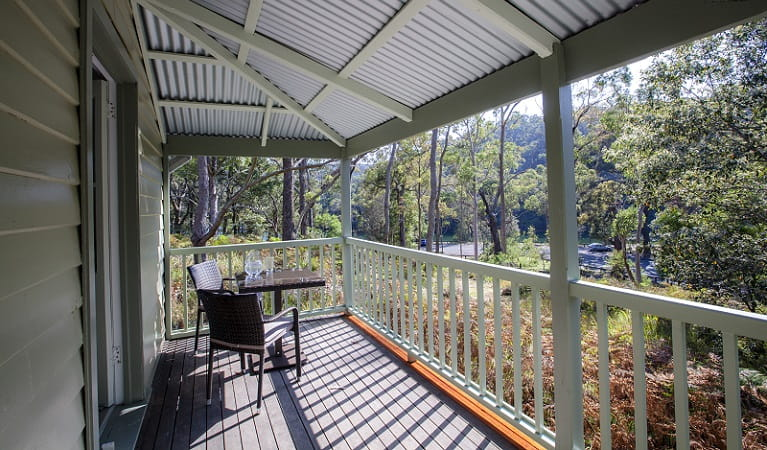 Front deck at Reids Flat Cottage. Photo: Rosie Nicolai OEH