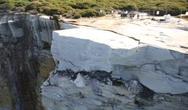 Wedding Cake Rock on the Royal National Park coastline. Photo: David Croft/OEH.