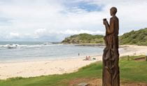 Sculpture along Port Macquarie Coastal walk, Sea Acres National Park. Photo: Rob Cleary