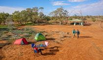 Friends camping by the billabong at Mount Wood campground. Photo: John Spencer/DPIE.