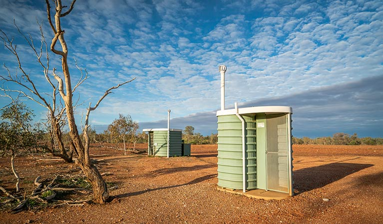 Toilets at Mount Wood campground. Photo: John Spencer/DPIE