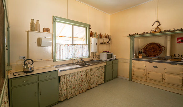 Kitchen at Mount Wood Homestead. Photo: John Spencer/DPIE