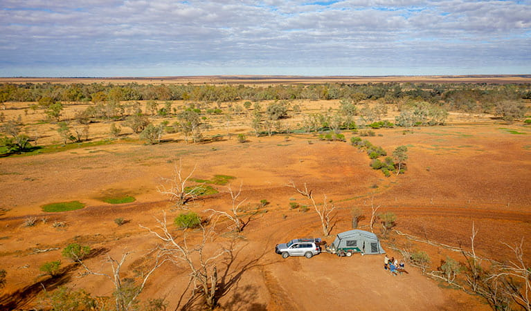 The red dirt of Mount Wood campground in Sturt National Park. Photo: John Spencer/DPIE