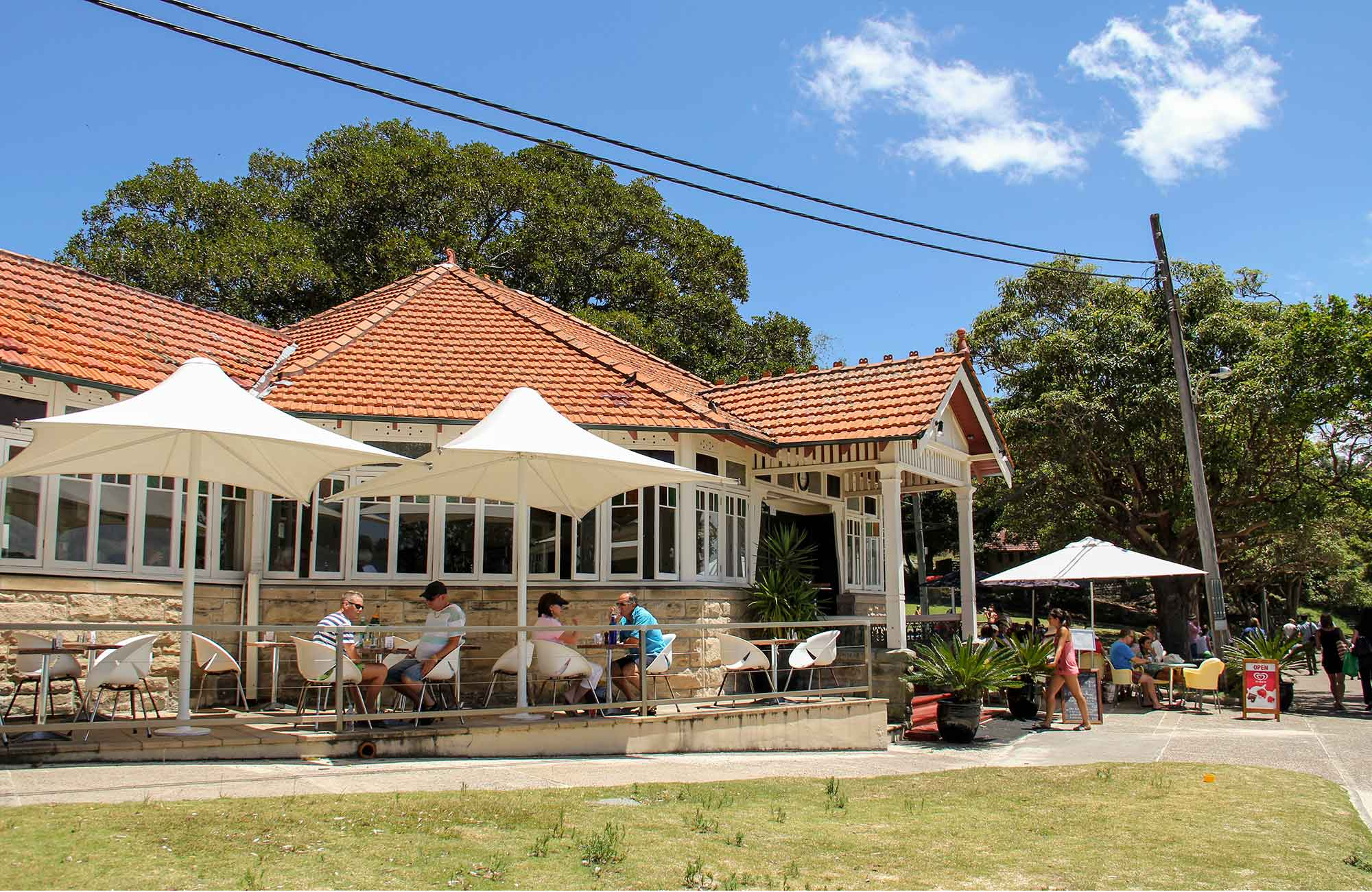 Nielsen Park Cafe and Halbert Pavilion, Sydney Harbour National Park. Photo: John Yurasek