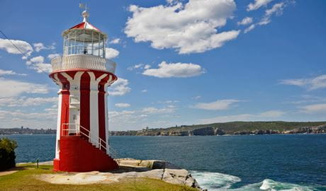 Hornby Lighthouse and harbour view. Photo: Kevin McGrath