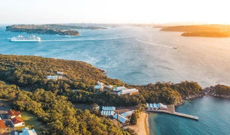 Aerial view of Q Station in Sydney Harbour National Park. Photo: Q Station