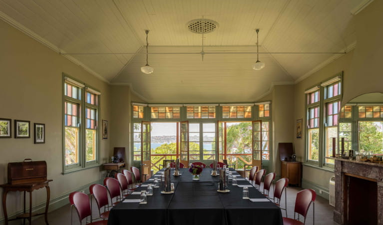Conference room at Q Station in Sydney Harbour National Park. Photo: Q Station