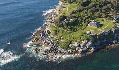 Aerial view of South Head, Sydney Harbour National Park. Photo: David Finnegan/DPIE