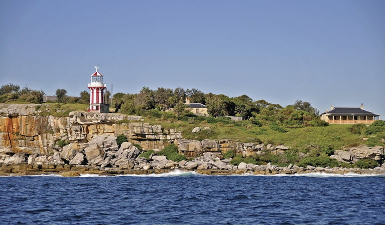 Hornby Lighthouse and the ocean cliffs of South Head. Photo: Kevin McGrath/OEH
