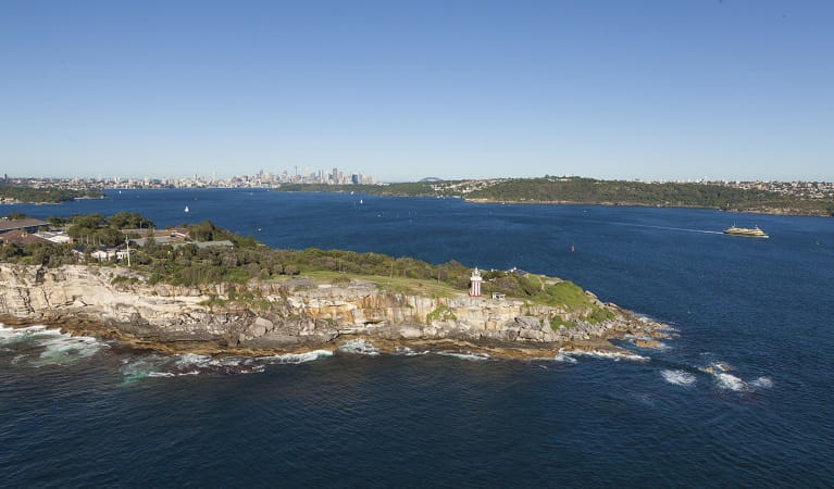 South Head with the Sydney skyline in the background. Photo: David Finnegan/DPIE