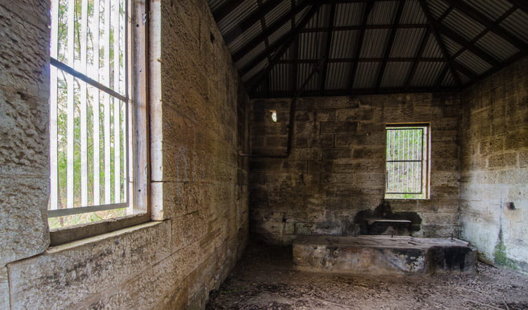 Heritage Pump Station interior, Thirlmere Lakes National Park. Photo: John Spencer