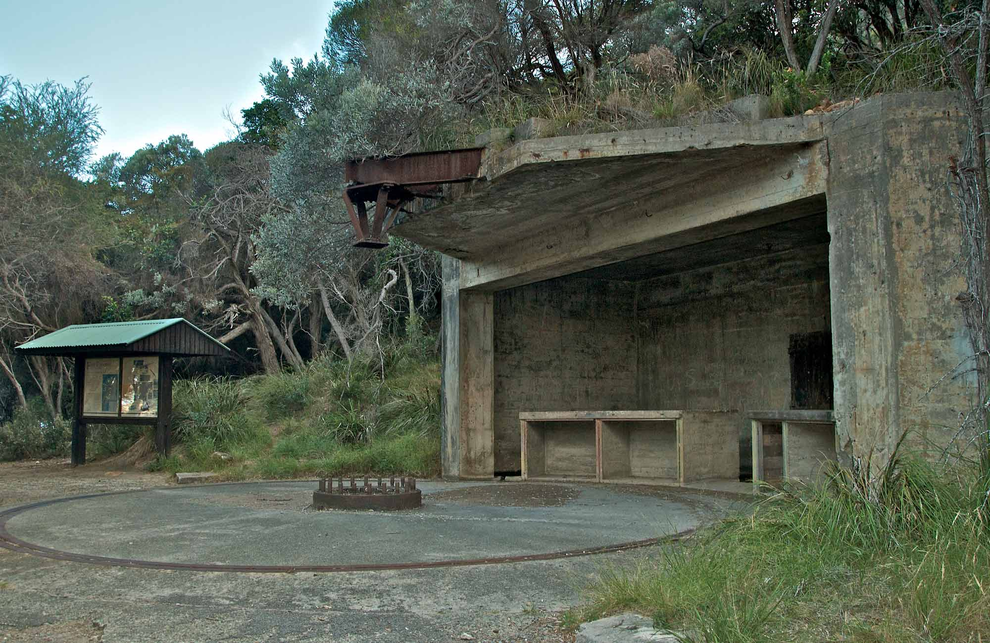 World Wat II Emplacement, Tomaree National Park. Photo: John Spencer