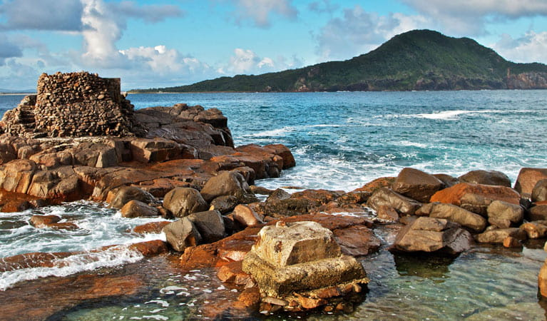 Rocks of Fort Tomaree, Tomaree National Park. Photo: John Spencer