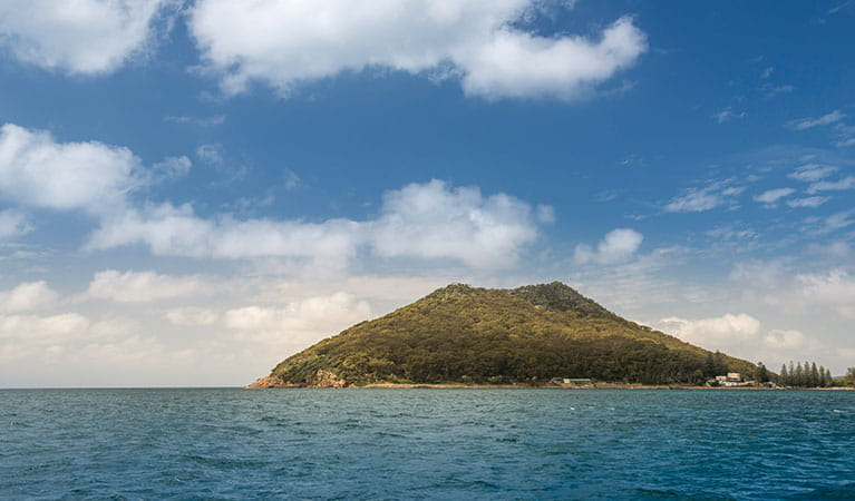 Looking over the water towards Tomaree Head. Photo: OEH/J Spencer