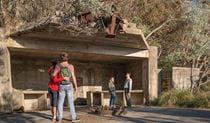 Visitors at the World War II gun emplacement at Fort Tomaree. Photo: J Spencer/OEH