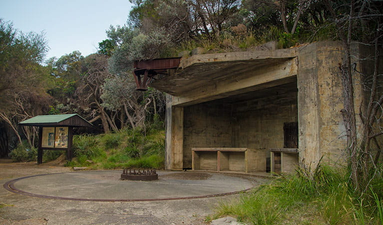 World War II Gun Emplacements, Tomaree National Park. Photo: John Spencer Copyright:NSW Government