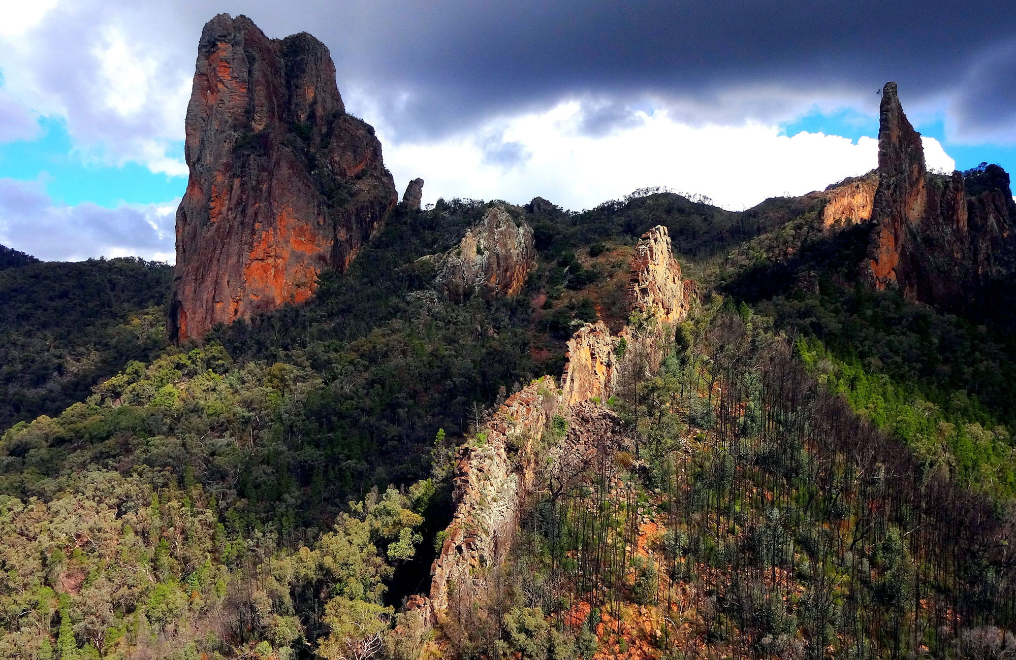 The Breadknifes, Warrumbungle National Park. Photo: Chinmoy Mukerjee