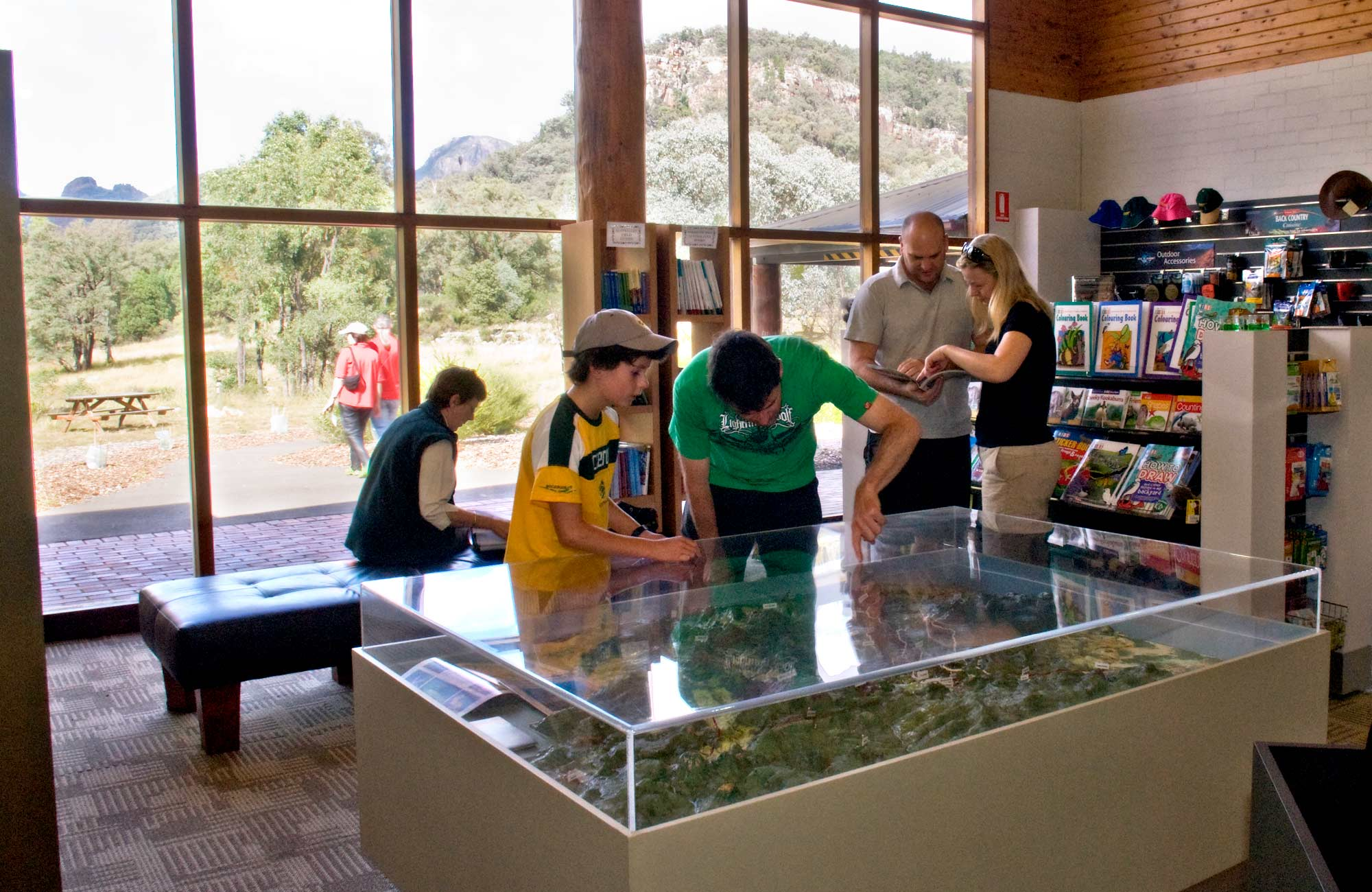 Warrumbungle Visitor Centre, Warrumbungle National Park. Photo: Boris Hlavica