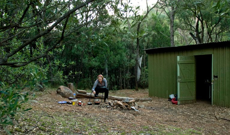 Balor Hut Campground, Warrumbungle National Park. Photo: OEH