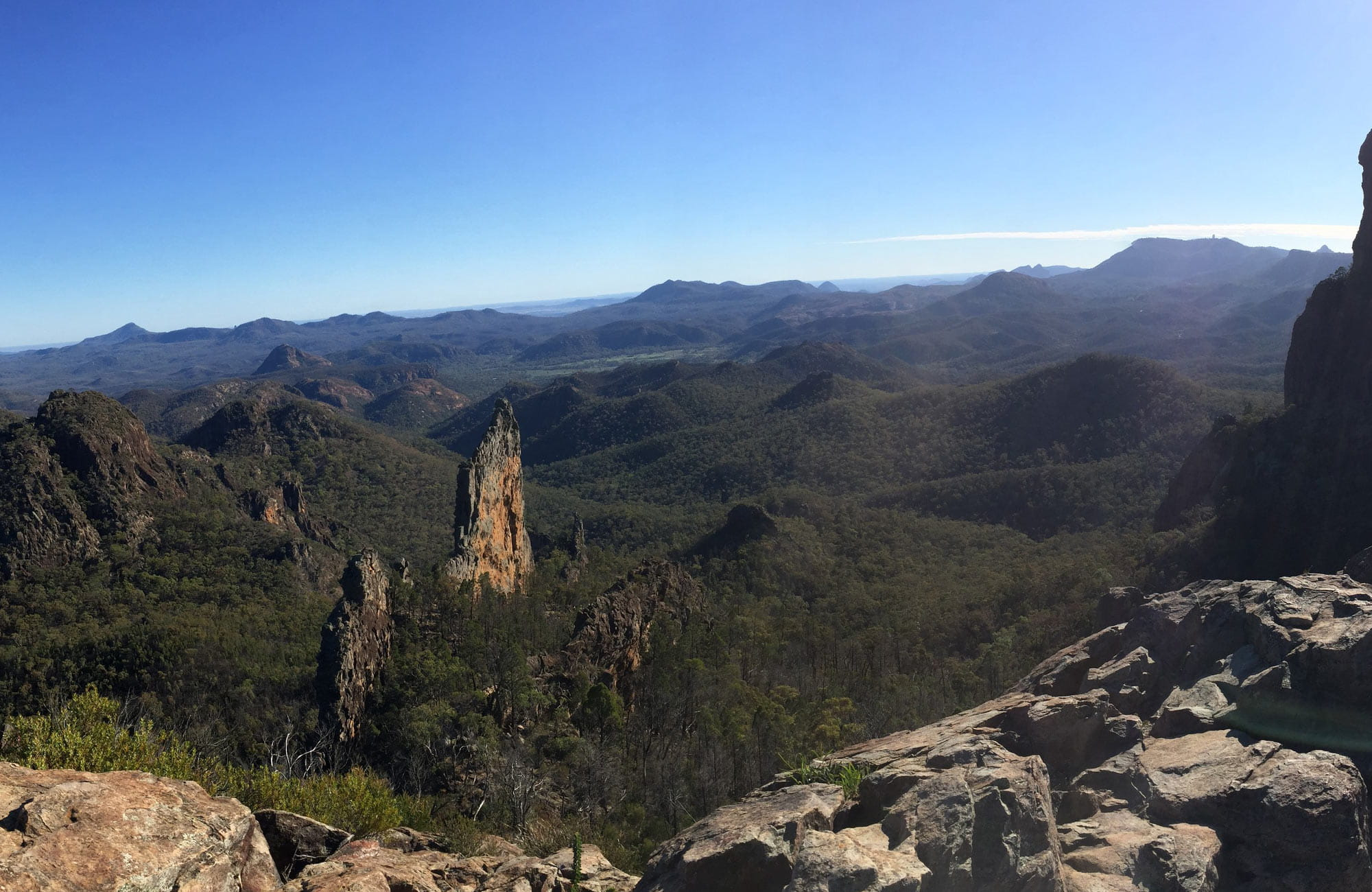 View of Breaknife from Grand High Tops summit, Warrumbungle National Park. Photo: May Fleming © May Fleming