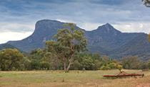 Historic farming equipment at Gunneemooroo campground in Warrumbungle National Park. Photo: Rob Cleary/DPIE