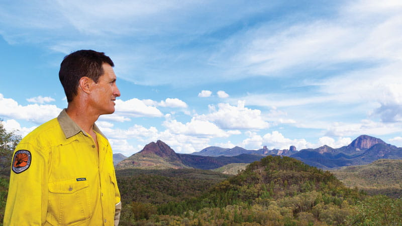 Warrumbungle National Park Ranger. Photo: Rob Cleary.