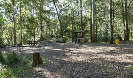 Gap Creek facilities, Watagans National Park. Photo: Susan Davis/DPIE