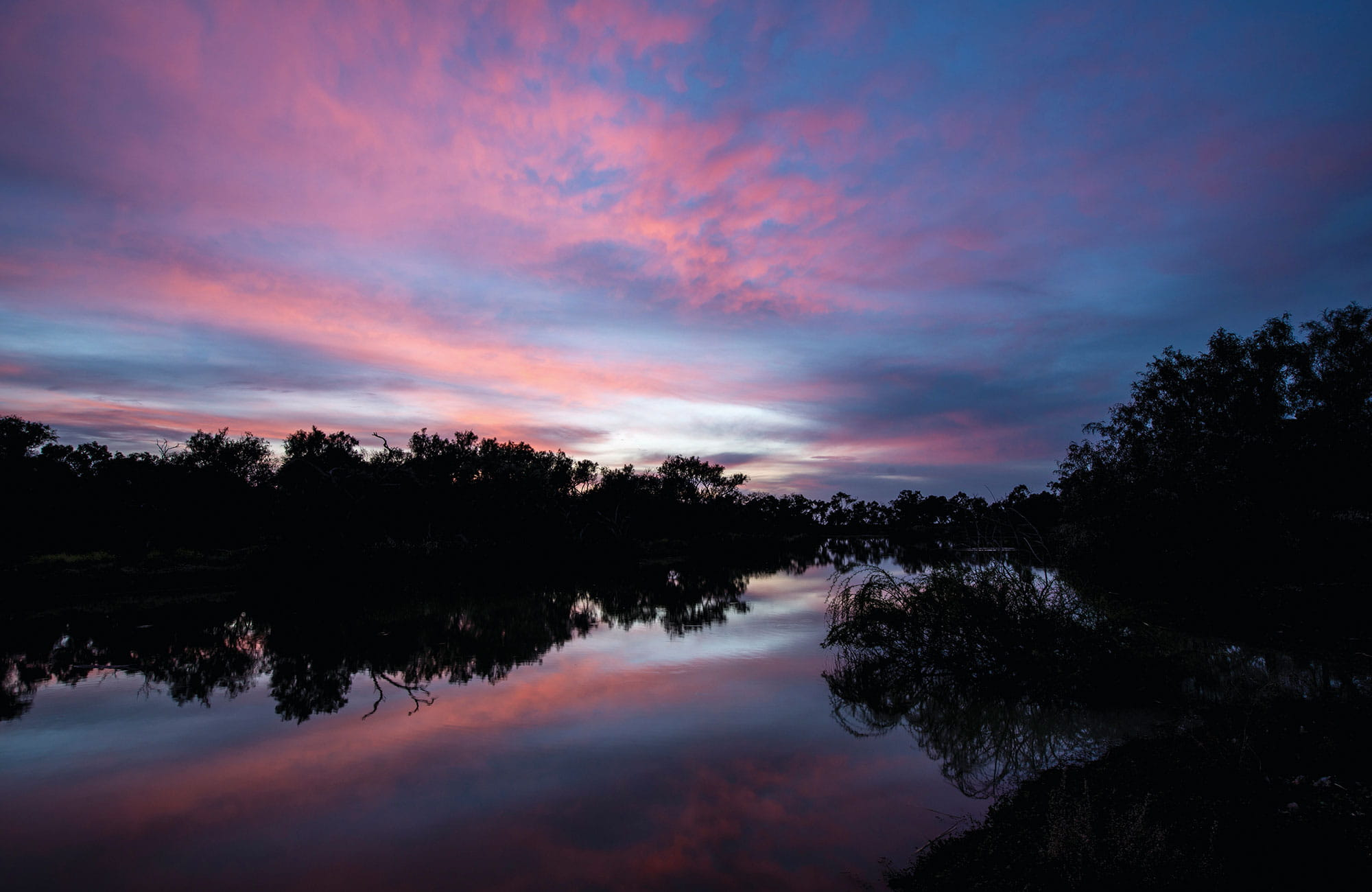 Sunset over Willandra National Park. Photo: John Spencer/OEH