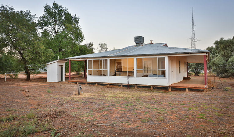 Willandra Cottage exterior, Willandra National Park. Photo: Vision House Photography/DPIE