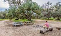 Willandra group campground, Willandra National Park. Photo: John Spencer