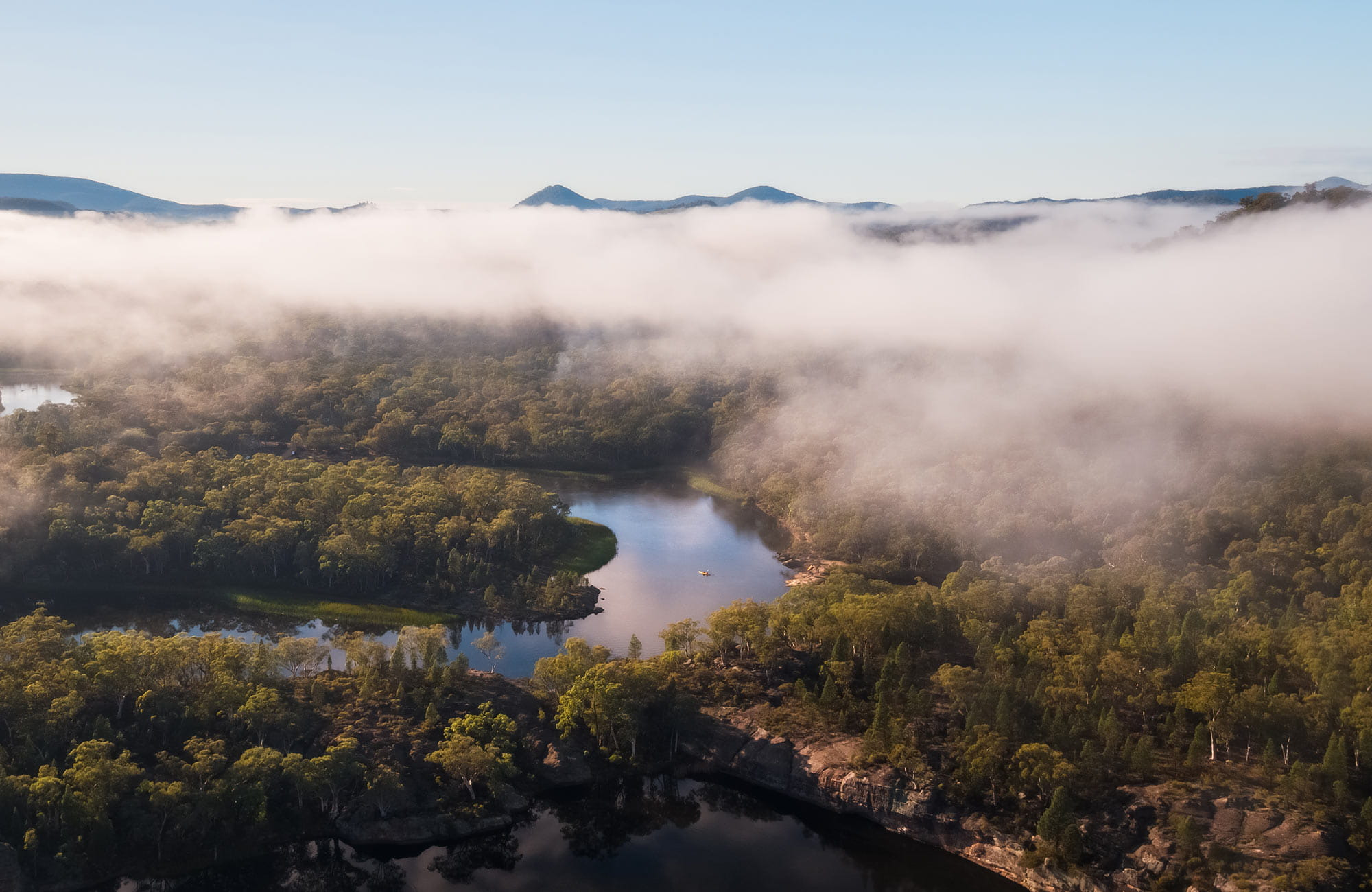 Aerial view of Dunns Swamp-Gunguddy, Wollemi National Park. Photo: Daniel Tran/OEH.