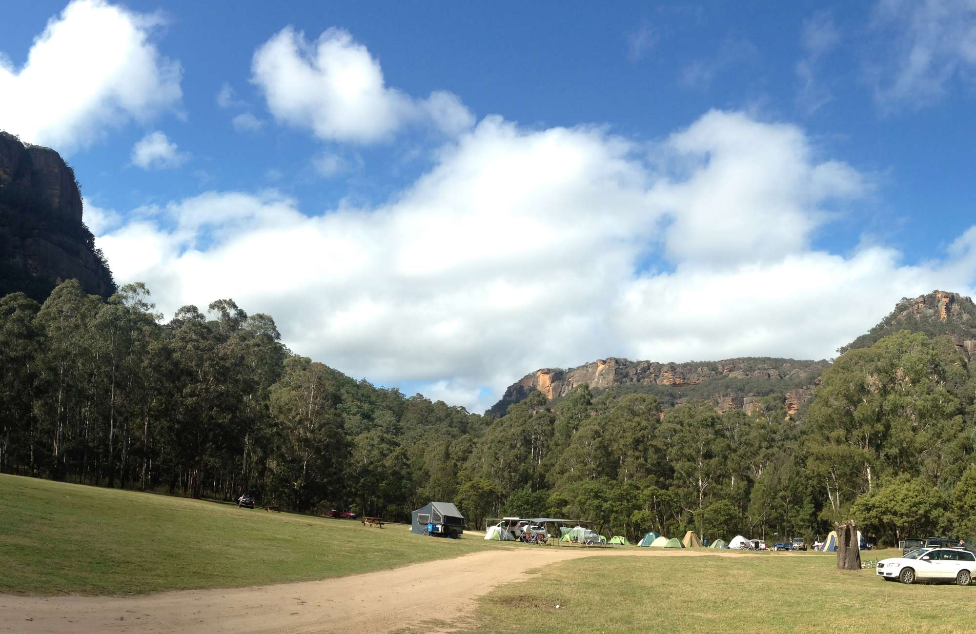 Newnes campground, Wollemi National Park. Photo: Elinor Sheargold.