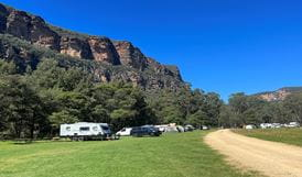 Picnic table in Coorongooba campground. Photo: Dave Noble