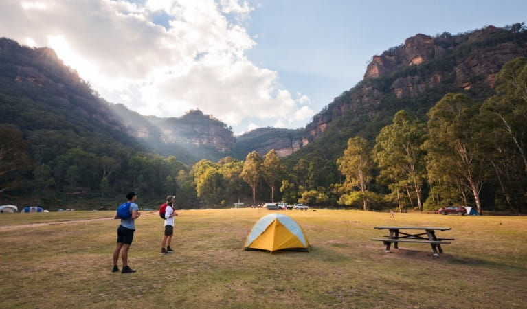 Newnes campground, Wollemi National Park. Photo: Elinor Sheargold/OEH