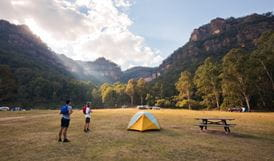 Newnes campground, Wollemi National Park. Photo: Elinor Sheargold/OEH.