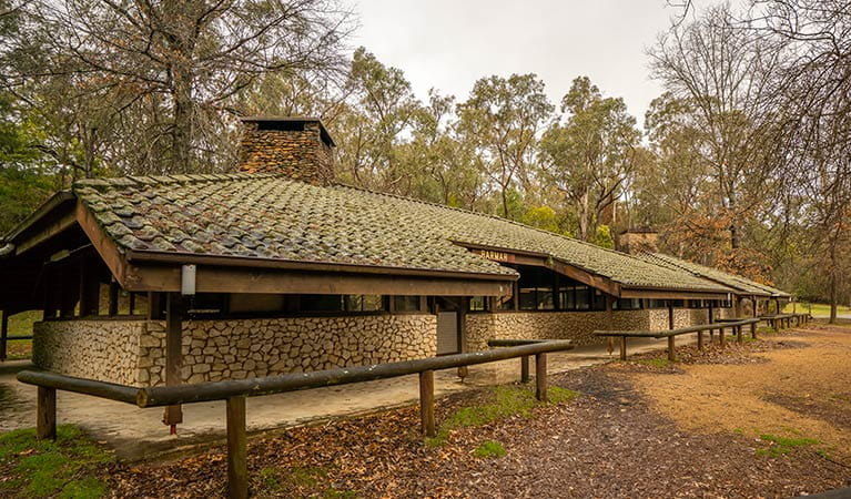 The dining hall and camp kitchen at Wombeyan Caves campground. Photo: OEH/John Spencer