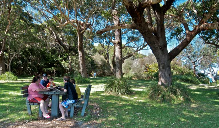 People in the Bateau Bay picnic area. Photo: John Spencer