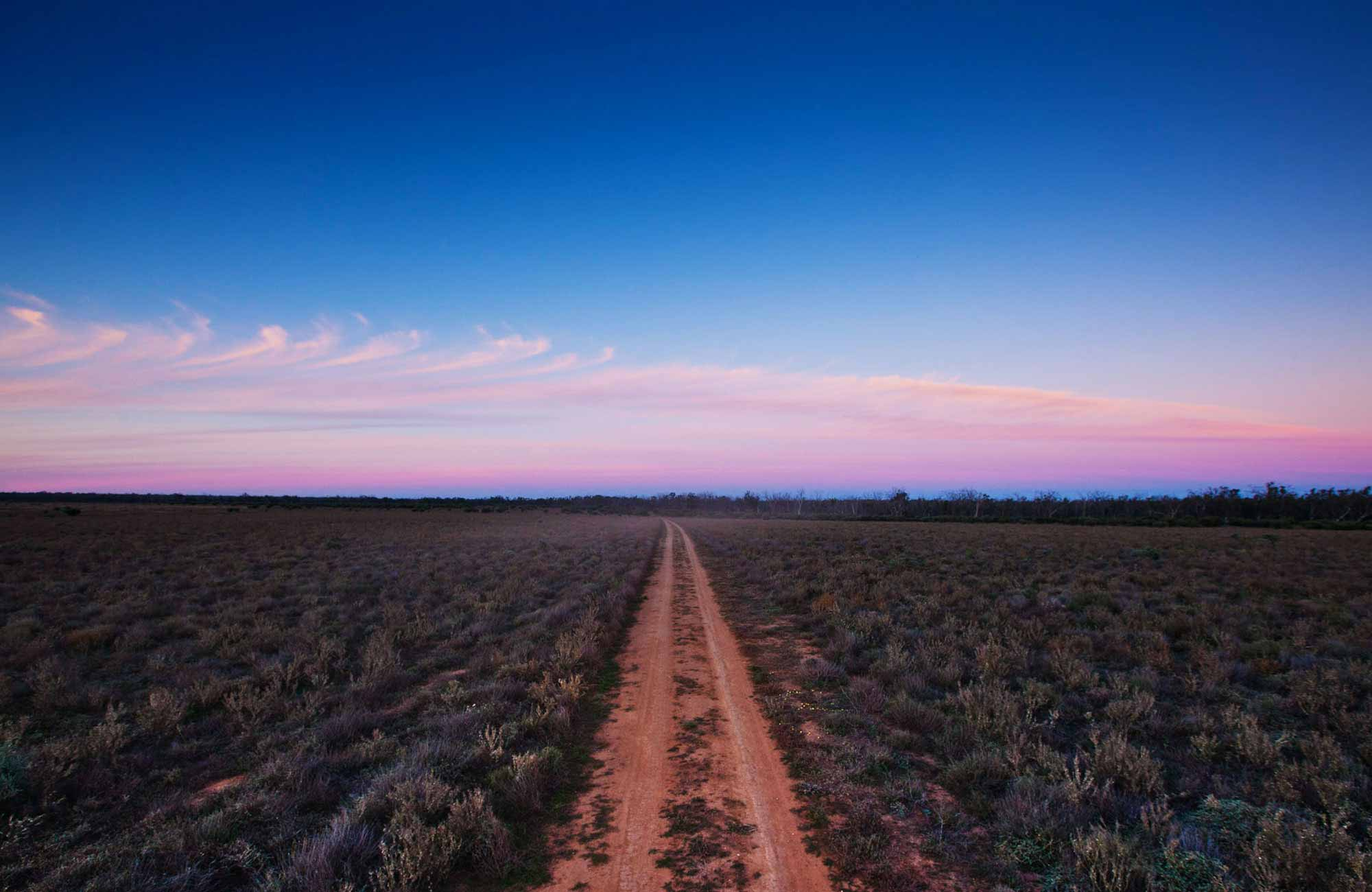 Follow the dirt track to Yanga National Park. Photo: David Finnegan.