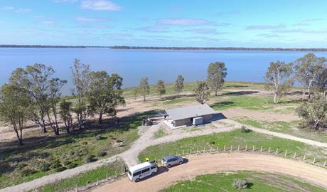 Regatta Beach picnic area, Yanga National Park. Photo: Courtesy of Outback Geo Adventures