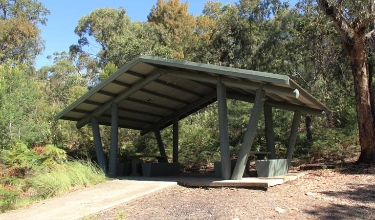 Sheltered picnic area at Yellow Rock lookout. Photo: John Yurasek