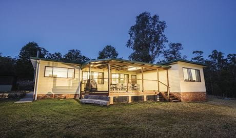 Big Yango House at dusk, Yengo National Park. Photo: Simone Cottrell/OEH