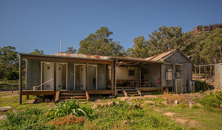 The shared facilities block at Yerranderie Private Town in Yerranderie Regional Park. Photo: John Spencer/OEH