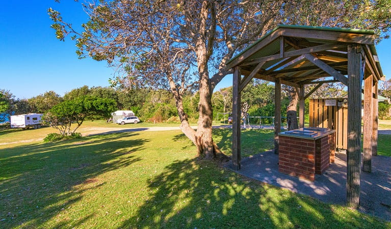 Boorkoom campground pay station in Yuraygir National Park. Photo: Robert Cleary/DPIE