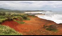 Red cliffs in Yuraygir National Park. Photo: Rob Cleary